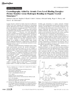 Crystallography Aided by Atomic Core-Level Binding Energies  Proton Transfer versus Hydrogen Bonding in Organic Crystal Structures.