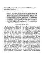 Cultural determinants of population stability in the Havasupai Indians.