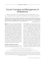 Current concepts and management of glioblastoma.