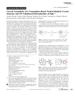 Curved Aromaticity of a Corannulene-Based Neutral Radical  Crystal Structure and 3D Unbalanced Delocalization of Spin.