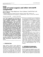 CVD of metal organic and other rare-earth compounds.