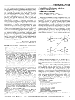 Cycloadditions of Ruthenium Alkylidyne Complexes with Carbonyl or Thiocarbonyl Compounds.