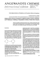 Cyclooligomerization of Butadiene and Transition Metal -Complexes.