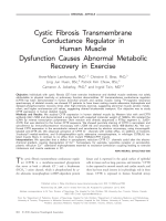 Cystic fibrosis transmembrane conductance regulator in human muscle  Dysfunction causes abnormal metabolic recovery in exercise.
