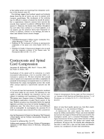 Cysticercosis and spinal cord compression.