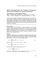 Data Compression for Types of Nopaper Recorders Based on Some Wavelets.