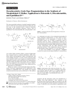 Decarboxylative Grob-Type Fragmentations in the Synthesis of Trisubstituted ZOlefins  Application to PelorusideA  Discodermolide  and EpothiloneD.