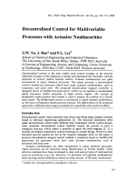 Decentralized Control for Multivariable Processes with Actuator Nonlinearities.
