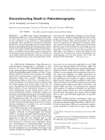 Deconstructing death in paleodemography.
