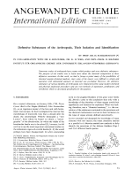Defensive Substances of the Arthropods  Their Isolation and Identification.