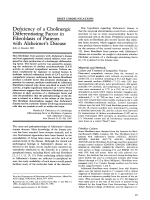Deficiency of a cholinergic differentiating factor in fibroblasts of patients with Alzheimer's disease.