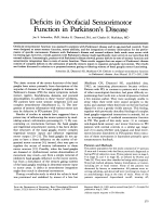 Deficits in orofacial sensorimotor function in Parkinson's disease.