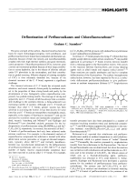 Defluorination of Perfluoroalkanes and Chlorofluorocarbons.