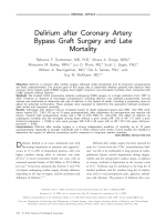 Delirium after coronary artery bypass graft surgery and late mortality.