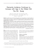 Dementia incidence continues to increase with age in the oldest old  The 90+ study.