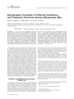 Demographic correlates of paternity confidence and pregnancy outcomes among Albuquerque men.