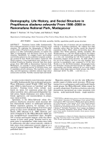 Demography  life history  and social structure in Propithecus diadema edwardsi from 1986Ц2000 in Ranomafana National Park  Madagascar.