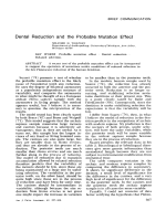 Dental reduction and the probable mutation effect.