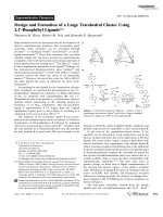 Design and Formation of a Large Tetrahedral Cluster Using 1 1-Binaphthyl Ligands.