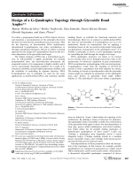 Design of a G-Quadruplex Topology through Glycosidic Bond Angles.