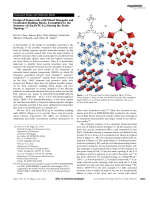 Design of Frameworks with Mixed Triangular and Octahedral Building Blocks Exemplified by the Structure of [Zn4O(TCA)2] Having the Pyrite Topology.