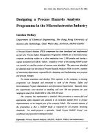 Designing a Process Hazards Analysis Programme in the Microelectronics Industry.