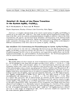Detailed I.R. Study of the Phase Transition in the System AgNO3-Fe(NO3)3