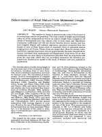 Determination of adult stature from metatarsal length.