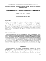 Determination of chemical cross-links in rubbers.