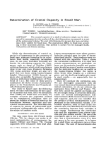 Determination of cranial capacity in fossil men.
