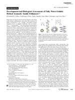 Development and Biological Assessment of Fully Water-Soluble Helical Aromatic Amide Foldamers.