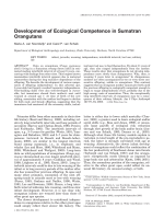 Development of ecological competence in Sumatran orangutans.