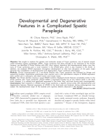 Developmental and degenerative features in a complicated spastic paraplegia.