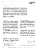 Developments in Arylnitrene Chemistry  Syntheses and Mechanisms [New synthetic methods (31)].