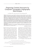 Diagnosing cerebral aneurysms by computed tomographic angiography  Meta-analysis.