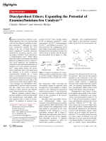 Diarylprolinol Ethers  Expanding the Potential of EnamineIminium-Ion Catalysis.