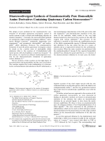 Diastereodivergent Synthesis of Enantiomerically Pure Homoallylic Amine Derivatives Containing Quaternary Carbon Stereocenters.