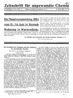 Die Hauptversammlung 1924 vom 11.Ц14. June in Rostock Wohnung in Warnemnde
