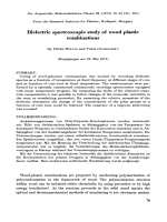 Dielectric spectroscopic study of wood plastic combinations.