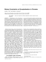 Dietary constraints on encephalization in primates.