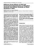 Different acute effects of oral and intratracheal administration of disodium arsenate and gallium arsenide on heme synthesis in rats.