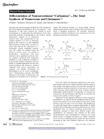 Differentiation of Nonconventional УCarbanionsФЧThe Total Synthesis of Nemorosone and Clusianone.