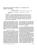 Digital dermatoglyphic patterns in a sample of the Nigerian population.