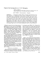 Digital dermatoglyphics of 107 Bengalis.