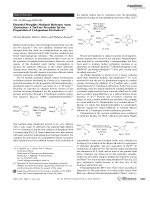Dimethyl Phosphite Mediated Hydrogen Atom Abstraction  A Tin-Free Procedure for the Preparation of Cyclopentane Derivatives.