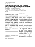 Dimethylarsinoylacetate from microbial demethylation of arsenobetaine in seawater.