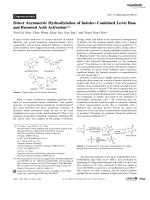 Direct Asymmetric Hydrosilylation of Indoles  Combined Lewis Base and Brnsted Acid Activation.