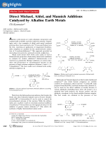 Direct Michael  Aldol  and Mannich Additions Catalyzed by Alkaline Earth Metals.