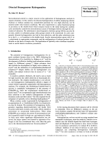 Directed Homogeneous Hydrogenation [New Synthetic Methods (65)].