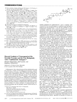 Directed Synthesis of Nonsymmetrical Bis-Steroidal Pyrazines and the First Biologically Active Cephalostatin Analogues.